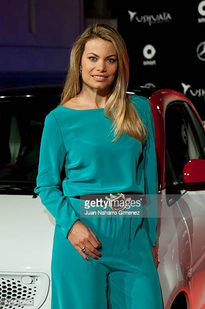 Carla Goyanes presents the new Smart Ushuaia Limited Edition 2016 at the Cibeles Palace on March 10 2016 in Madrid Spain
