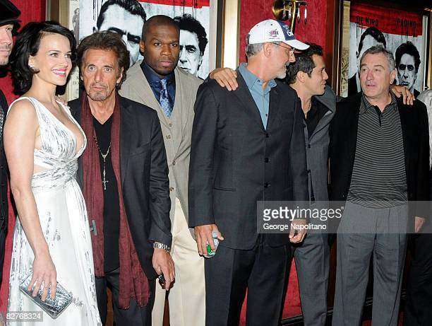 Carla Gugino Al Pacino Curtis 50 Cent Jackson Director Jon Avnet actors John Leguizamo and Robert De Niro attend the New York premiere of Righteous...