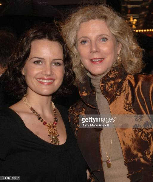 Carla Gugino and Blythe Danner during Opening Night of the Roundabout Theatre Company's Broadway Production of Heartbreak House at American Airlines...