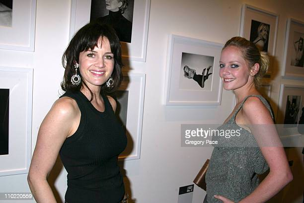 Carla Gugino and Marley Shelton during Calvin Klein Inc and Bryan Adams Host the Launch of His New Photography Book American Women Inside the Party...