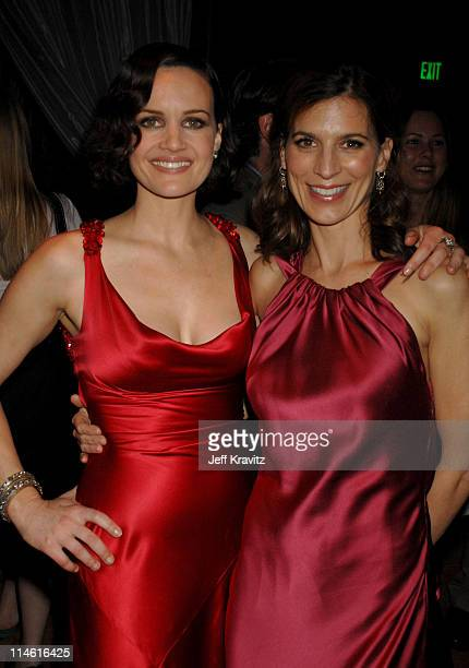 Carla Gugino and Perrey Reeves during Entourage Third Season Premiere in Los Angeles After Party in Los Angeles California United States