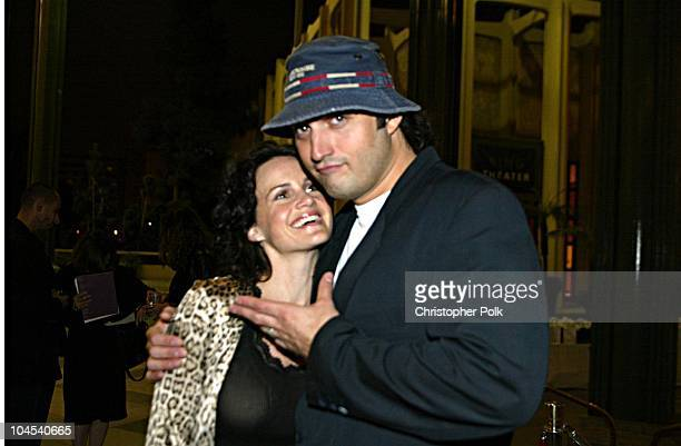 "Carla Gugino and Robert Rodriguez during ""Frida"" Premiere - After Party at Los Angeles County Museum of Art in Los Angeles, CA, United States."