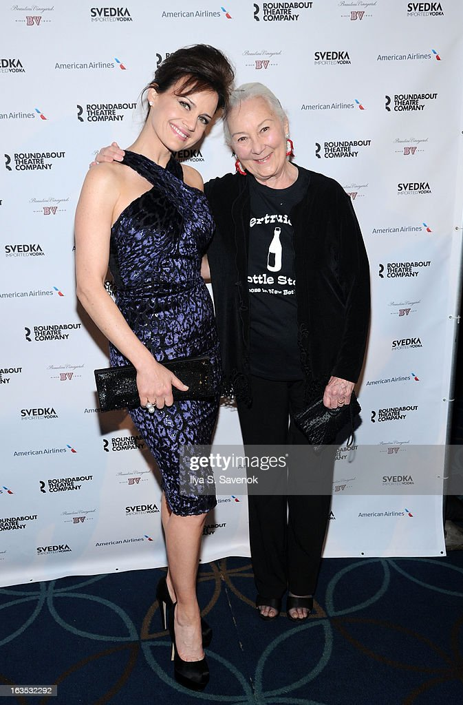 Carla Gugino and Rosemary Harris attends the 2013 Roundabout Theatre Company Spring Gala at Hammerstein Ballroom on March 11, 2013 in New York City.