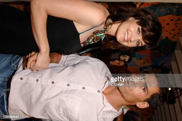 Carla Gugino and Tony Melillo creative director of Generra Jeans