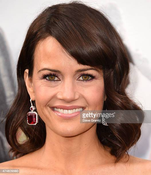 Carla Gugino arrives at the San Andreas Los Angeles Premiere at TCL Chinese Theatre IMAX on May 26 2015 in Hollywood California