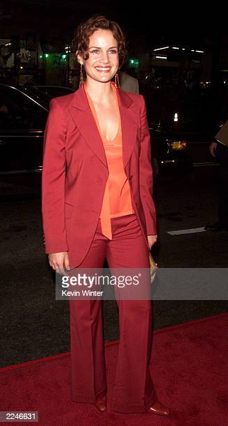 Carla Gugino at the premiere of 'Charlie's Angels' at the Chinese Theater in Los Angeles Ca on 10/22/00 Photo by Kevin Winter/Getty Images