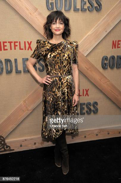 Carla Gugino attends Godless New York premiere at The Metrograph on November 19 2017 in New York City