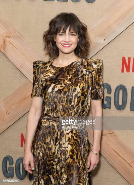 Carla Gugino attends Netflix Godless premiere at Metrograph