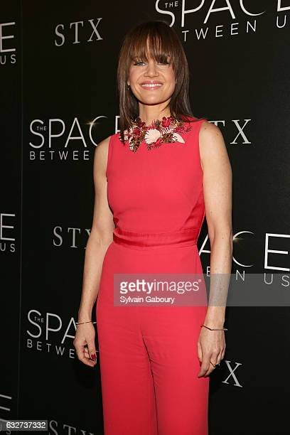 """Carla Gugino attends STX Entertainment with The Cinema Society Host a Screening of """"The Space Between Us"""" on January 25, 2017 in New York City."""