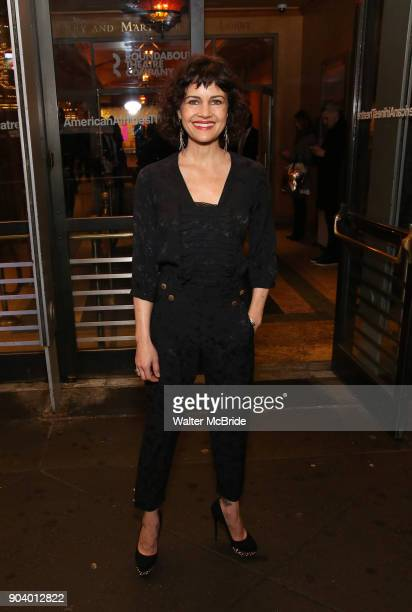 Carla Gugino attends the Broadway Opening Night Performance of 'John Lithgow Stories by Heart' at the American Airlines Theatre on January 11 2018 in...