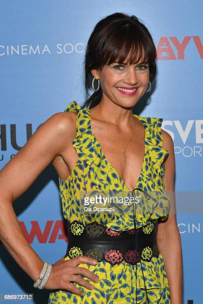 Carla Gugino attends The Cinema Society's Screening Of Baywatch at Landmark Sunshine Cinema on May 22 2017 in New York City