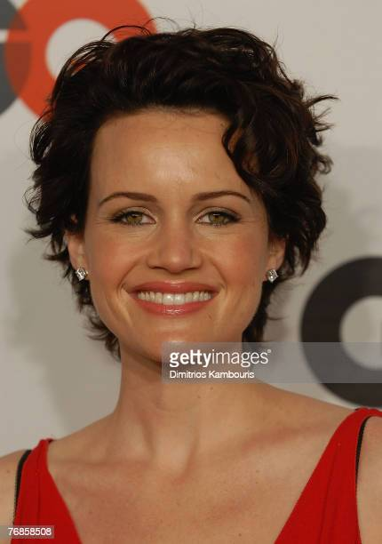 Carla Gugino attends the GQ Magazine 50th Anniversary Party at Cedar Lake on September 18 2007 in New York City