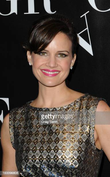 Carla Gugino attends the Grace Broadway opening night at the Cort Theatre on October 4 2012 in New York City