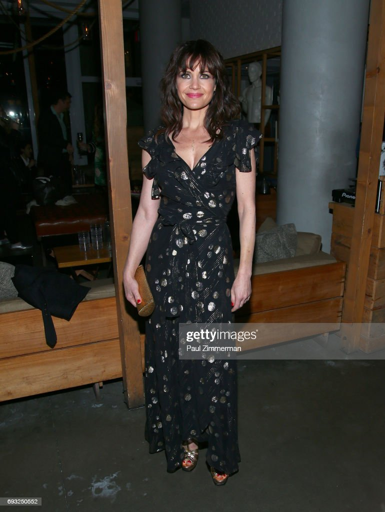 Carla Gugino attends the Gucci & The Cinema Society after party of Roadside Attractions' 'Beatriz At Dinner' at Mr. Purple on June 6, 2017 in New York City.