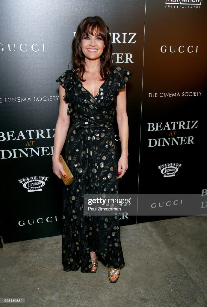 Carla Gugino attends the Gucci & The Cinema Society Host A Screening Of Roadside Attractions' 'Beatriz At Dinner' at the Metrograph on June 6, 2017 in New York City.