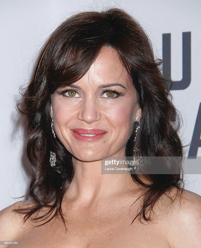 Carla Gugino attends the 'House Of Cards' premiere at Alice Tully Hall on January 30, 2013 in New York City.