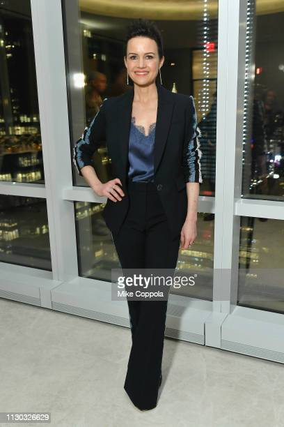 Carla Gugino attends the InStyle Dinner to Celebrate the April Issue Hosted By Cover Star Ciara and Laura Brown on March 13, 2019 in New York City.