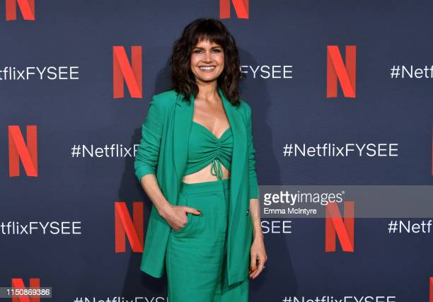 Carla Gugino attends the Netflix FYSEE Event for Haunting of Hill House at Raleigh Studios on May 21 2019 in Los Angeles California