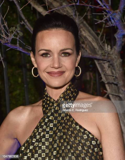 Carla Gugino attends the premiere of Neflix's The Haunting Of Hill House at ArcLight Hollywood on October 8 2018 in Hollywood California