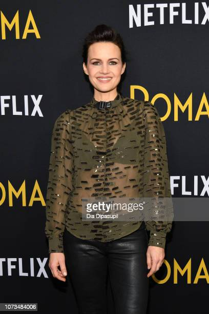 Carla Gugino attends the Roma New York screening at DGA Theater on November 27 2018 in New York City