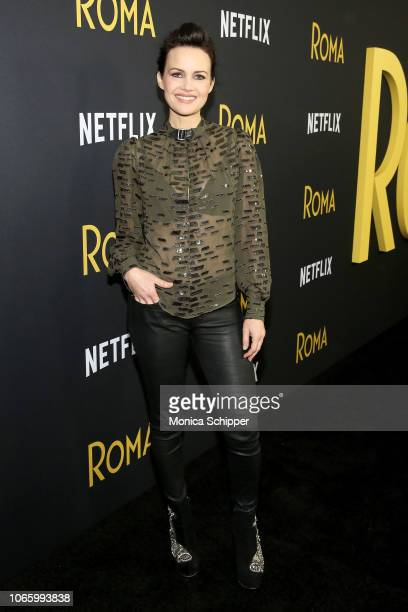 Carla Gugino attends the Roma New York Special Screening on November 27 2018 in New York City