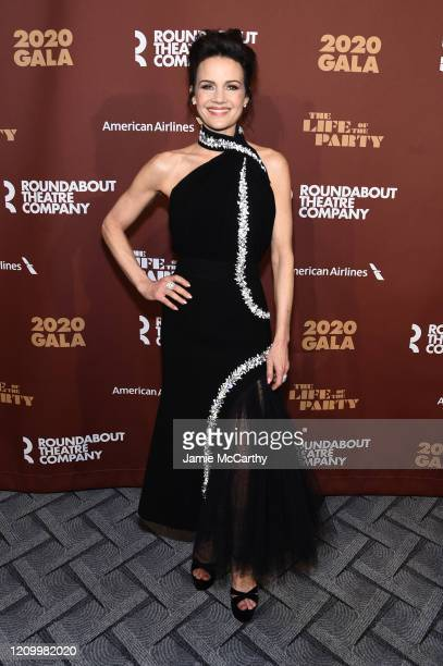 Carla Gugino attends the Roundabout Theater's 2020 Gala at The Ziegfeld Ballroom on March 02 2020 in New York City
