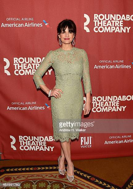 Carla Gugino attends the Roundabout Theatre Company's 2015 Spring Gala at the Grand Ballroom at The Waldorf=Astoria on March 2 2015 in New York City