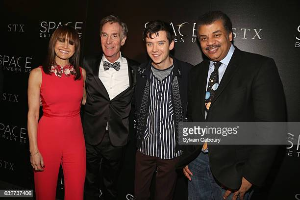 """Carla Gugino, Bill Nye, Asa Butterfield and Neil deGrasse Tyson attend STX Entertainment with The Cinema Society Host a Screening of """"The Space..."""