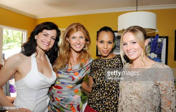 Carla Gugino, Connie Britton, Kerry Washington and Kristen Bell attend the annual Jen Klein Day of Indulgence Summer Party on August 14, 2011 in Los...