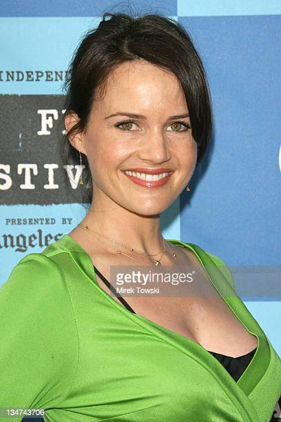 Carla Gugino during 2006 Los Angeles Film Festival The Lather Effect Premiere at Mann Festival Theatre in Westwood California United States