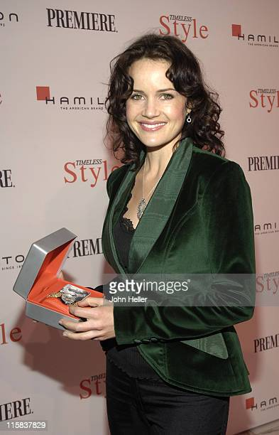 Carla Gugino during Costume Designers Honored in Hollywood at the 3rd Annual Timeless Style Awards in Los Angeles California United States