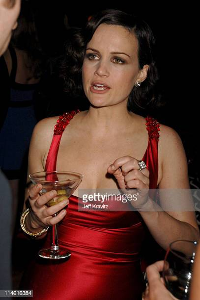 "Carla Gugino during ""Entourage"" Third Season Premiere in Los Angeles - After Party in Los Angeles, California, United States."