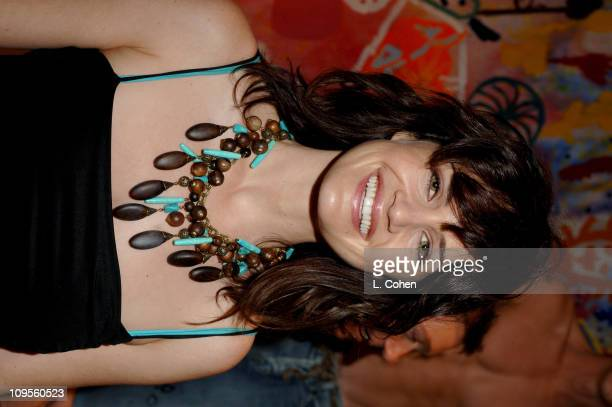 Carla Gugino during Generra Jeans Launch Party Charity Auction Benefiting Inner-City Arts at SUR Restaurant in Los Angeles, California, United States.
