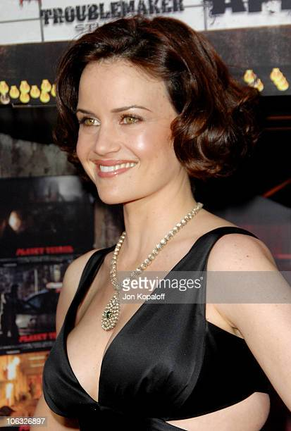 Carla Gugino during Grindhouse Los Angeles Premiere Arrivals at Orpheum Theatre in Los Angeles California United States
