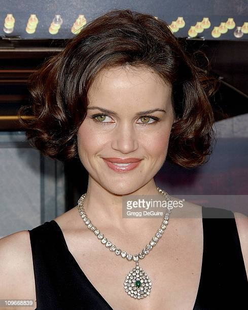 """Carla Gugino during """"Grindhouse"""" Los Angeles Premiere - Arrivals at The Orpheum Theatre in Los Angeles, California, United States."""