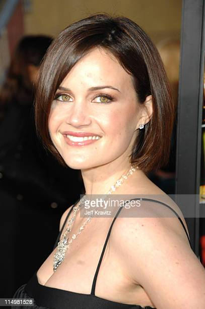 Carla Gugino during The Lookout Los Angeles Premiere Red Carpet at Egyptian Theater in Hollywood California United States