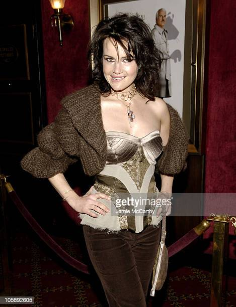 Carla Gugino during The Pink Panther World Premiere Inside Arrivals at Ziegfeld Theater in New York City New York United States