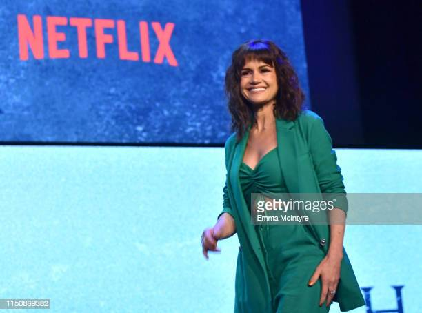 "Carla Gugino onstage at the Netflix FYSEE Event for ""Haunting of Hill House"" at Raleigh Studios on May 21, 2019 in Los Angeles, California."
