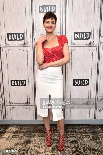 Carla Gugino visits Build Studio on June 11, 2019 in New York City.