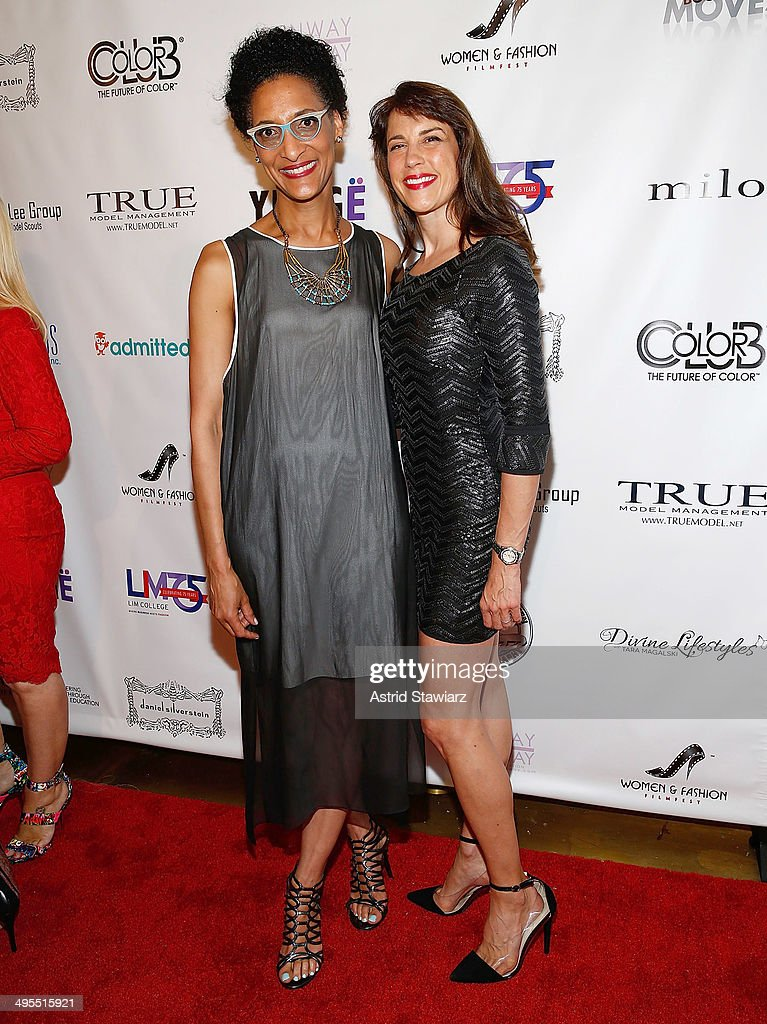 Carla Hall and Dale Noelle attend the 2nd Annual Women & Fashion FilmFest Red Carpet Opening at Gold Bar on June 3, 2014 in New York City.