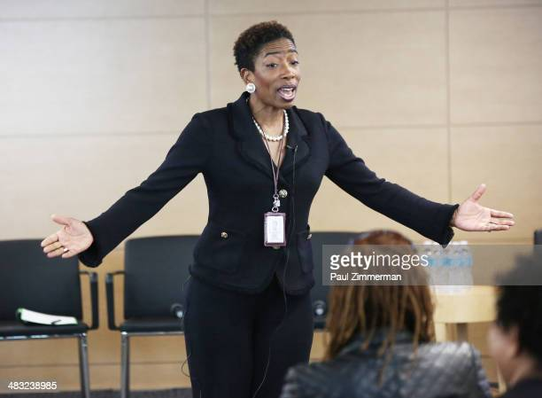 Carla Harris Vice Chairman Global Wealth Management Managing Director and Senior Client Advisor Morgan Stanley speaks at the 2014 Sundance Institute...