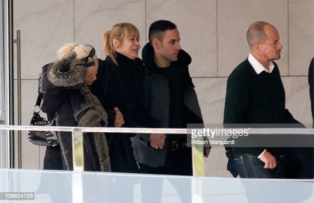 Carla Hidalgo attends the funeral of Carlota Canto Cobo on January 31, 2011 in Barcelona, Spain.