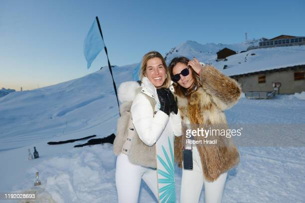 Carla Hinojosa and Silvia Zamora attend Casamigos in the Snow on December 04 2019 in Verbier Switzerland