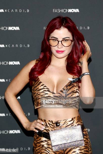 Carla Howe arrives as Fashion Nova Presents: Party With Cardi at Hollywood Palladium on May 8, 2019 in Los Angeles, California.