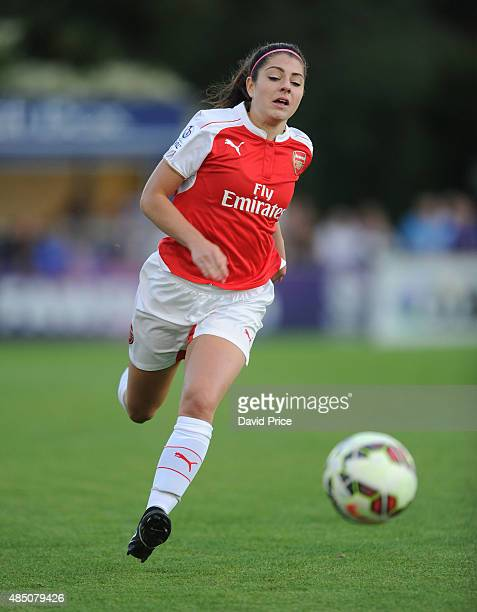 Carla Humphrey of Arsenal during the match between Arsenal Ladies and Chelsea Ladies at Meadow Park on August 23 2015 in Borehamwood England