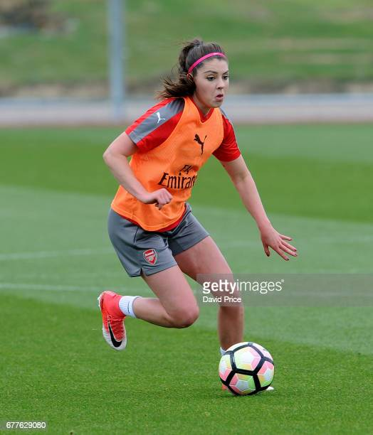 Carla Humphrey of Arsenal Ladies during an Arsenal Ladies Training Session at London Colney on May 3 2017 in St Albans England