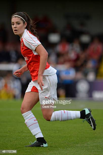 Carla Humphrey of Arsenal Ladies during the match between Arsenal Ladies and Watford Ladies at Meadow Park on July 23 2015 in Borehamwood England
