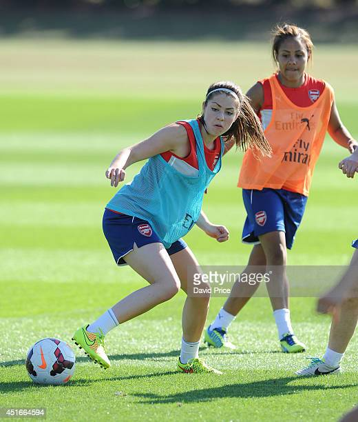 Carla Humphrey of Arsenal Ladies during their training session at London Colney on July 3 2014 in St Albans England