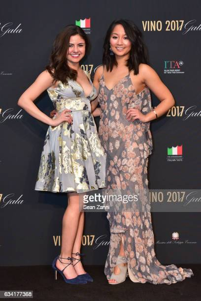 Carla Ibarra and Anne Sun attend VINO 2017 Gala Presented by the Italian Trade Commission at Spring Studios on February 6 2017 in New York City