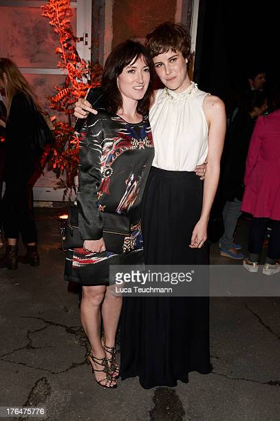 Carla Juri and Charlotte Roche attend 'Feuchtgebiete' Premiere Party at Gretchen on August 13 2013 in Berlin Germany